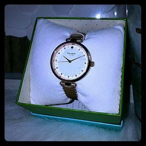 Kate spade metallic rose gold watch